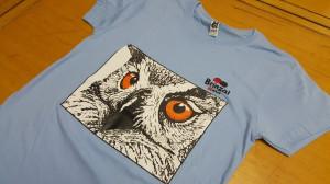 Eagle Owl's Eyes T-shirt for kids